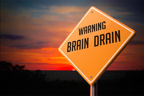 Warning brain drain