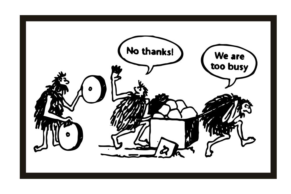 Busy cavemen