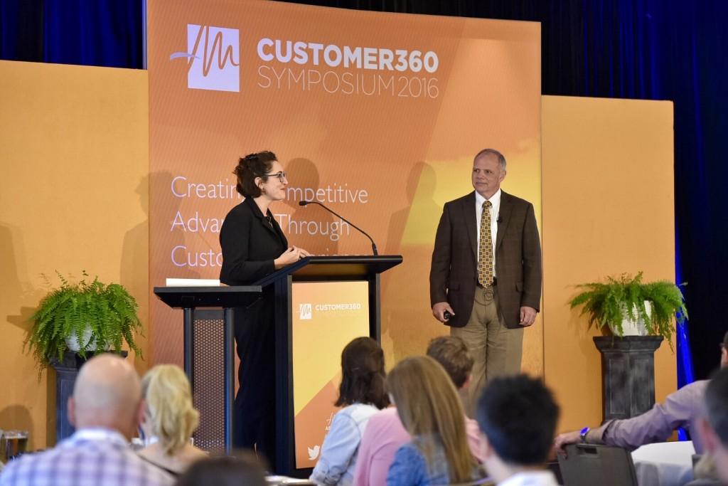 Harriet Wakelam at the 2016 Customer 360 Symposium