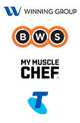 The Winning Group, BWS, My Muscle Chef, Telstra